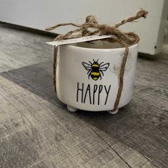 Rae Dunn mini planter BEE HAPPY 🐝